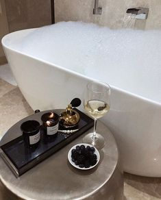 It's National Bubble Bath Day 🛁🛁 We can't wait to celebrate, but before we do, we're setting the mood with dreamy bath tub inspiretion that is sure to have you feeling relaxed. #Bath #Bathroom #BathroomDesign #BubbleBath #BathTub #InteriorDesign #Relax #Inspiration #Design #HomeDecor Rose Trees, In Vino Veritas, My New Room, No Time For Me, Bubbles, Sweet Home, House Design, Interior Design, Interior Architecture