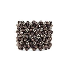 Stretch woven bracelet with beading