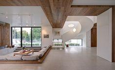 Wohnzimmer mediterran Möbel Decken Paneele Holz