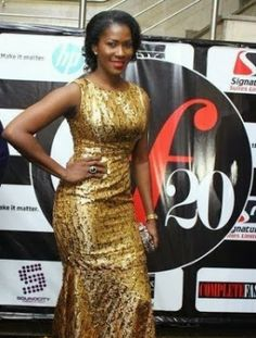 Actress Stephanie Okereke-Linus looking good with this Long Gown