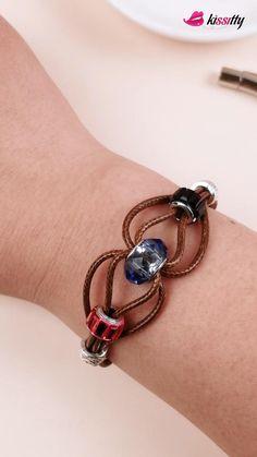 Wire Jewelry Designs, Handmade Wire Jewelry, Bracelet Designs, Diy Jewelry, Women Jewelry, Diy Bracelets Patterns, Diy Bracelets Easy, Bracelet Crafts, Diy Bracelets Materials