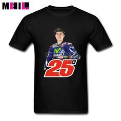 New Designs Movistar 25 MotoGP T Shirt Big Size  Men Short-Sleeves T-shirt #Affiliate