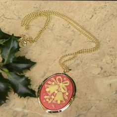 Red cameo necklace Christmas bells | Susie Carol jewellery @Pure Dash