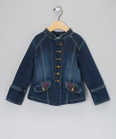 Take a look at this Blue Denim Jacket - Toddler & Girls by Eliane et Lena on #zulily today!