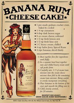 2. Banana Rum Cheese Cake