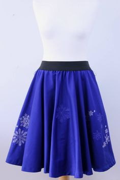 A personal favourite from my Etsy shop https://www.etsy.com/listing/550701110/blue-embroidered-skirt-full-circle-skirt