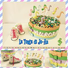 Converse colorate note musicali smarties