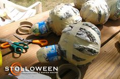 Ramblings About Halloween and Papier Mache Creepy Halloween Props, Halloween Spider, Halloween 2015, Halloween Ideas, Reuse Old Tires, Reuse Recycle, Recycling, Spider Decorations, Used Tires