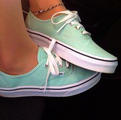 Mint Vans... Too cute