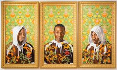 """Triptych example """"Triple Portrait of Charles I."""" Kehinde Wiley"""