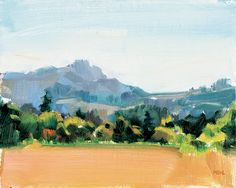 I painted this during the 2017 Washington County Plein Air Paint Out. It was a beautiful day as I spied a southern view from Baseline Road, with the fallow autumn field, surrounding treeline, and the soft hues of the Chehelam Mountains rising beyond. It's always...