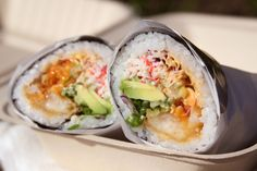 A sushi burrito from Sushiritto #restaurant #SF #foodie