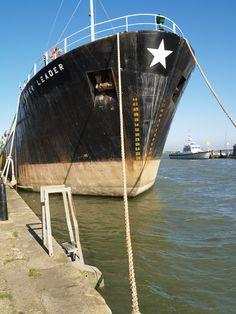 Ship tied up at Gillingham Pier , Kent  [shared]