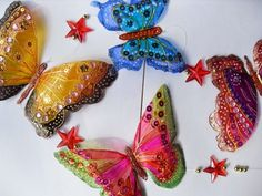 These Plastic Butterflies are made from Drink Bottles and Nail Polish!  We've included Soda Can Butterflies for you too.