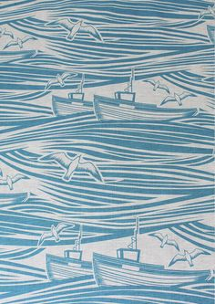 Mini Moderns — Whitby Linen Fabric - Lido