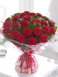 Send flowers with Flowers. Flower Delivery available in Dublin and nationwide.ie can guarantee both the quality and value of our produce to be entirely to your satisfaction. Love Flowers, Fresh Flowers, Beautiful Flowers, Dublin, Anniversary Flowers, Hand Tied Bouquet, Flowers Delivered, Flower Designs, Red Roses