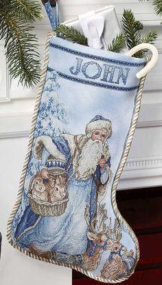 Christmas Stockings Cross Stitch Patterns ST, Nick Cross Stitch Pattern