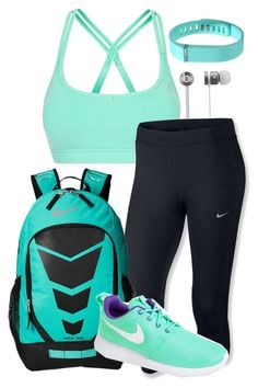 """""""Werk out :)"""" by mckinley02 ❤ liked on Polyvore featuring Lorna Jane, NIKE, Fitbit and Beats by Dr. Dre"""