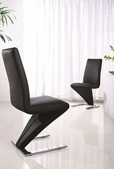 Set-of-2-Z-DINING-CHAIRS-VERY-CONTEMPORARY-BLACK-0