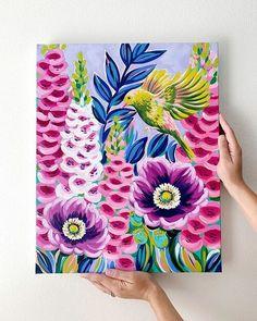 "Painting-A-Day #12 ""Justina"" — Julie Marriott Gouache, Acrylic Art, Acrylic Painting Canvas, Black Canvas Paintings, Acrylic Painting Flowers, Floral Paintings, Landscape Paintings, Mini Canvas Art, Flower Art"