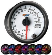 2-1//16 MK1 Silver Ring 7 Color 60psi Turbo Boost 2400 EGT Pyrometer Diesel Gauge