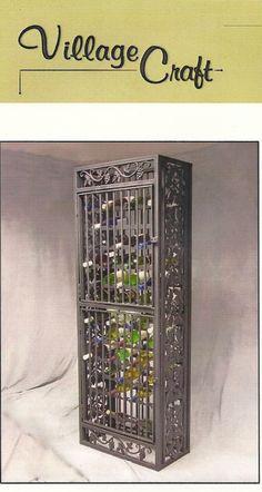 Handcrafted iron wine rack.