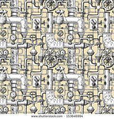 seamless pattern Steampunk - stock vector