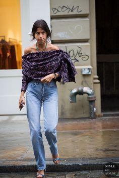 Leandra Medine Man Repeller Street Style Street Fashion Streetsnaps by STYLEDUMONDE Street Style Fashion Photography