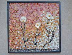 """Tableau en mosaïque """" Trois fleurs'"""