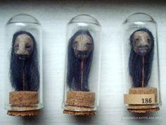 Pixie Hill: Shrunken shrunken heads. No tutorial but easy to recreate. #halloween