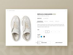 I recently bought a pair of Margiela sneakers and when I saw the awesome initiative from @Paul Flavius Nechita (daily UI elements for 100 days) I just had to redesign the product page. Can't wait t...