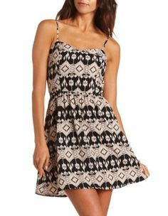 Charlotte Russe Zip-Back Tribal A-Line Dress. I want this!