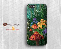 IPhone 5 case IPhone 4 case forest floral iphone 4 by Atwoodting, $7.99