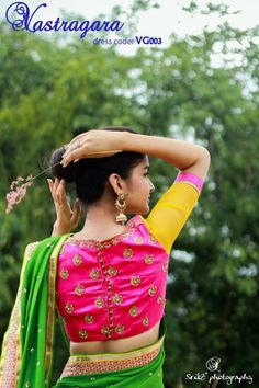 Saree blouse design. Silk blouse.