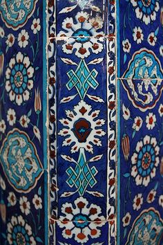 Iznik tiles, Rüstem Pasha Mosque D: 1561 - 1563     The Rüstem Pasha Mosque / Camii in Istanbul is famous for its large quantities of İznik tiles. There are around 80 different patterns.