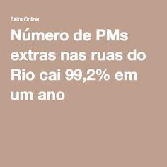 Número de PMs extras nas ruas do Rio cai 99,2% em um ano