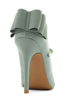 Zeal of Approval Heel, #ModCloth #mint #bowsmakeitbetter