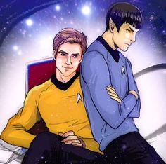 Kirk + Spock by *TechnoRanma on deviantART