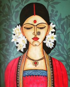 beautiful paintings painting artists indian woman most from most beautiful indian paintings from top indian artists indian painting wom Madhubani Art, Madhubani Painting, Indian Folk Art, Indian Artist, Cherokee Indian Art, Native Indian, Native Art, Mural Painting, Painting & Drawing