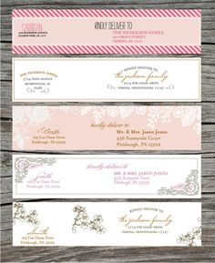 How To Make Wrap Around Wedding Invite Labels Using Full Sticker - Wedding invitation templates: wedding address label template