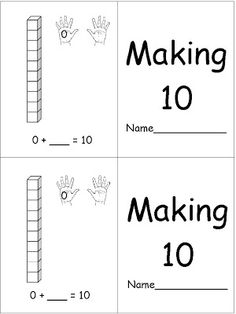 fluently add and subtract within 20 using strategies. making FREE! Making 10 Book - Using Unifix Cubes 1st Grade Math, Grade 1, Math School, Homeschool Math, Homeschooling, Math Intervention, Math Work, Math Addition, Teaching Kindergarten