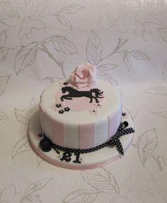 Horse silhouette cake