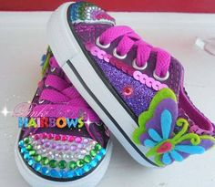 Butterfly Inspired Bling Converse