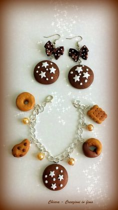 Parure in #fimo #handmade #biscotti #christmasgift #ideeregalonatale