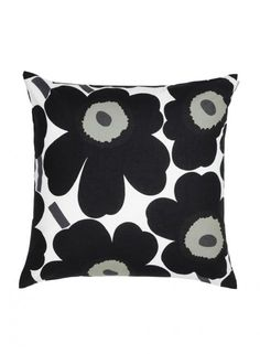 The Pieni Unikko cushion cover is by the Finnish design brand Marimekko with the classic Pieni Unikko pattern that is found on many of Marimekko's products. The pattern was designed by Maija Isola and Kristina Isola and is available in a number of colors. Marimekko, Modern Throw Pillows, Decorative Pillows, Toss Pillows, Accent Pillows, Design Shop, Lumbar Pillow, Pillow Shams, Cushion Covers