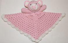 Crochet Pattern for Little Bear Security Blanket Plush. $5.00, via Etsy.