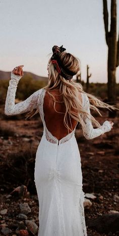 18 Rustic Lace Wedding Dresses For Different Tastes Of Brides rustic lace wedding dresses sheath with long sleeves open back lovers society Full gallery: