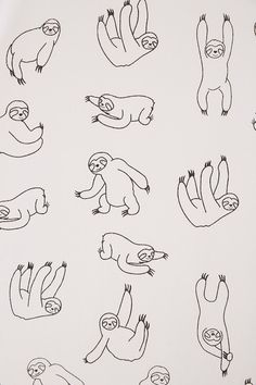How to Choose a Shower Curtain for the Bathroom Doodle Tattoo, Doodle Art, Cute Tiny Tattoos, Small Tattoos, Sloth Drawing, Sloth Tattoo, Handpoke Tattoo, Tattoo Outline, Cute Sloth