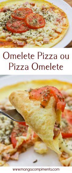 Receita de Pizza Omelete ou Omelete Pizza? Você decide!! #receita #comida #pizza #omelete