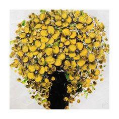 Vase Yellow Flowers Painting W80 x H80 cm